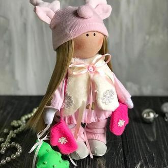 Текстильная новогодняя кукла 🦌