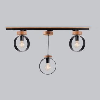 Трековый светильник Люстра в стиле лофт на 3 спота