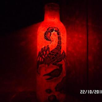 Ручная роспись бутылок на заказ