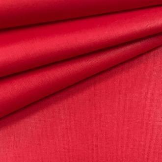 Ткань хлопок однотонная для рукоделия красная