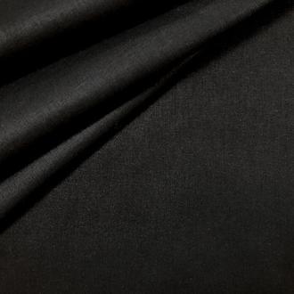 Ткань хлопок для рукоделия однотонная черная