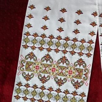 Свадебный рушник, рушник на иконы, рушник для свадьбы, космический узор
