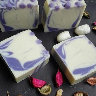 Натуральное мыло с нуля. Ежевика и ваниль.(шелковое)