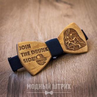 """Деревянная бабочка """"DRUNK SIDE"""""""