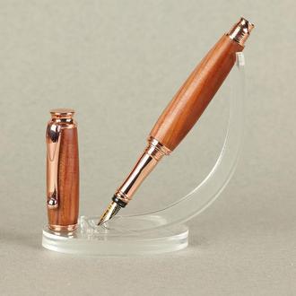 Деревянная перьевая ручка, модель Астон - слива