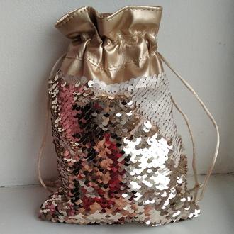 Мешочки для подарков с паетками перевертышами