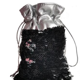 Мешочек для новогоднего подарка с паетками перевертышами