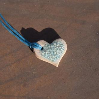 Кулон, подвеска керамическая Ледяное Сердце  0006