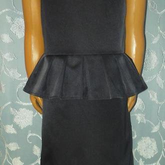 Школьное платье, отрезное по талии, с баской, модель № 52