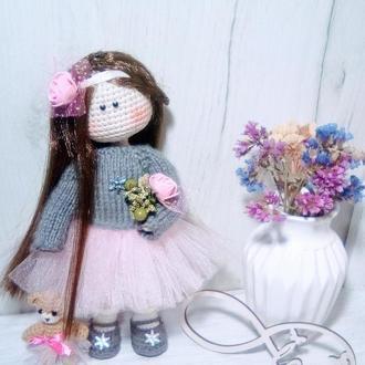Кукла вязаная,амигуруми.