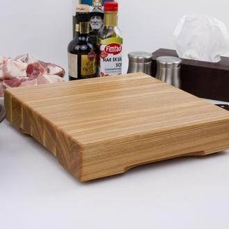 Кухонная доска для рубки, разделки и отбивания мяса из ясеня 30х30х6 см