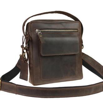 Именная кожаная сумка через плечо RX+, 4 цвета