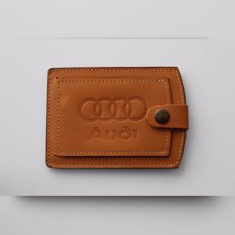 Обложка для прав Audi желтая 5072