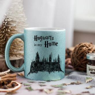 Глиттерная чашка Гарри Поттер