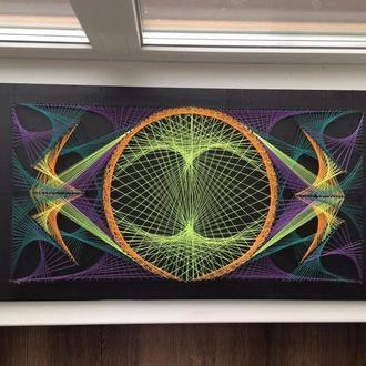 """Картина в стиле Стринг Арт (String Art) - """"Противостояние"""""""