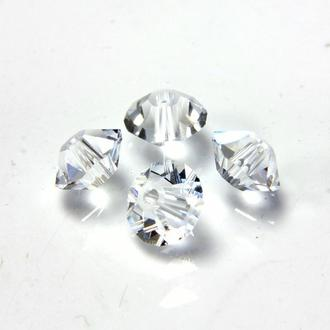 Бусины хрустальные Preciosa Spacer 4x6mm Crystal . 40шт