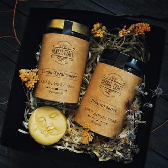 Подарочный набор (2 баночки чая, свеча)