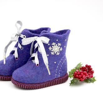 """Детские войлочные ботинки """"Снежинка"""""""
