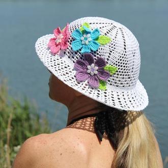 Шляпа женская, связана крючком