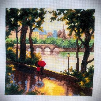 """Картина крестиком """"Прогулка в парке"""""""