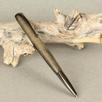 Деревянная перьевая ручка, модель Симпл - морённый орех