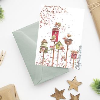"""Новогодняя открытка """"Рождественская песня"""""""