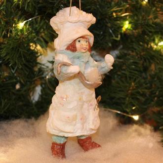 Ялинкова іграшка з вати «Кухар»