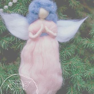 Фея кукла из шерсти. Валяный ангел с запахом лаванды