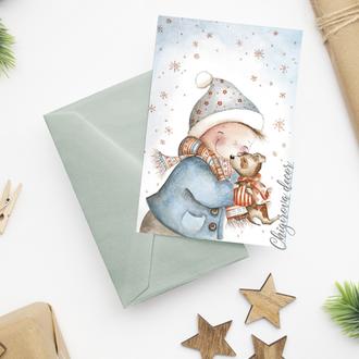 """Новогодняя открытка """"Нежность"""""""