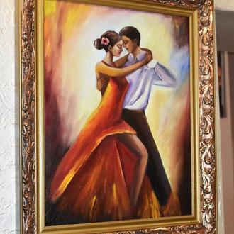Танец, картина, размер холста 35х45см
