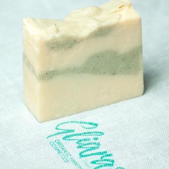 Мыло с белой глиной и эфирным маслом пихты натуральное органическое ручной работы