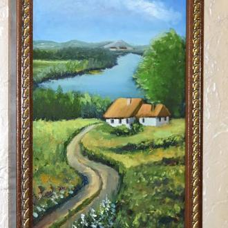 пейзаж, живопис,20х30см