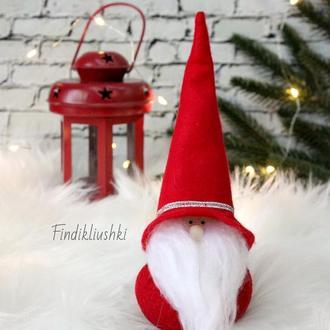 Интерьерная праздничная игрушка «Волшебный Гномик».  Новогодний гном