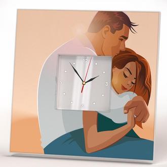 """Часы дизайнерские с изображением """"Влюбленные"""""""