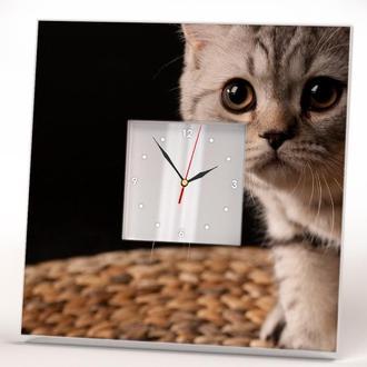 """Интерьерные часы  """"Любопытный котенок"""""""