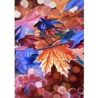 Кленовые листья, осень, 25х35 см