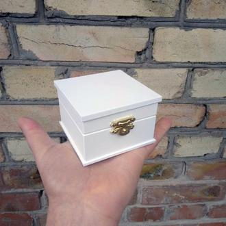 Гладкая коробочка для колец (арт. CR-701)