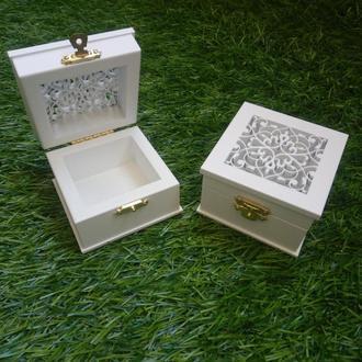 Коробочка для колец с высечкой (арт. CR-702)