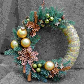 Новорічний вінок Різдвяний вінок Вінок на двері