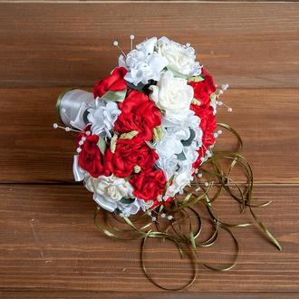 Букет-дублер для невесты красный