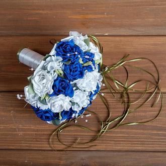 Букет-дублер для невесты синий