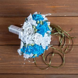 Букет-дублер для невесты голубой
