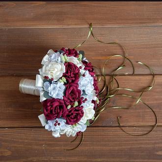 Букет-дублер для невесты марсала
