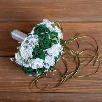 Букет-дублер для невесты изумрудный
