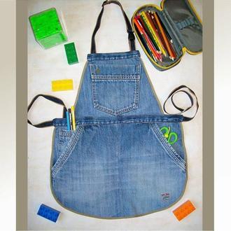 Детский джинсовый фартук