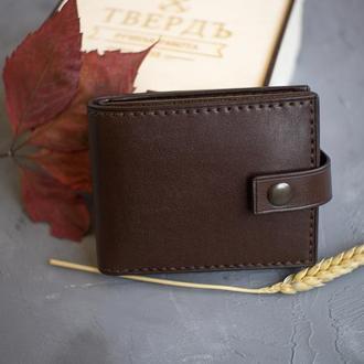 Классический кошелёк из натуральной кожи ручной работы