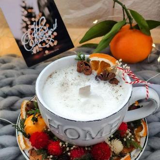Соевая натуральная ароматическая свеча в Чашке с блюдцем аромасаше