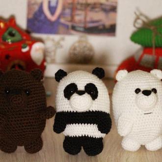 """3 медведя из мультсериала """"Мы медведи"""" ("""" We bare bears"""") ручной работы"""