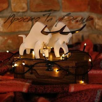 Новогодние игрушки, год быка,Новогодний сувенир Бык, символ 2021, статуэтка быка