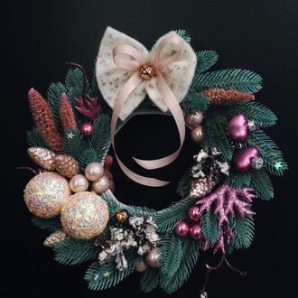 Новорічний вінок Різдвяний вінок